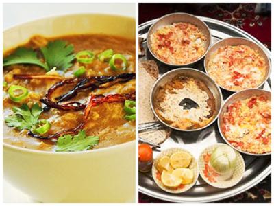 Petit-déjeuner Iranien : Haleem et assortiments de petits plats locaux